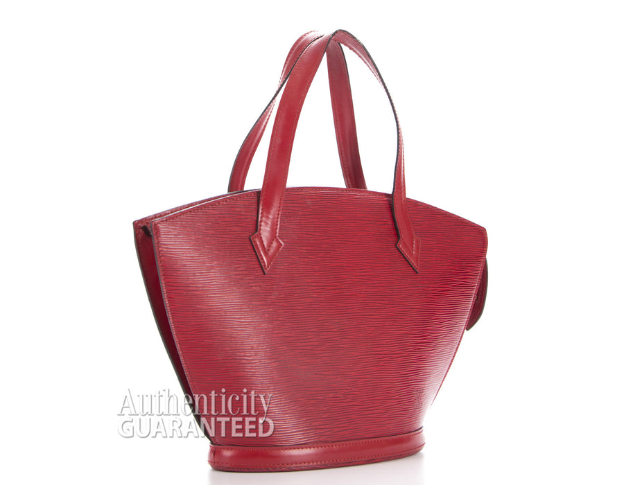 Louis Vuitton Red Epi Leather Saint Jacques PM Bag
