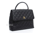 Chanel Black Caviar Classic Jumbo Kelly Bag