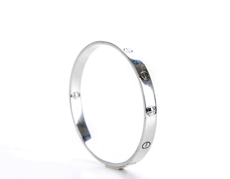 Cartier 18K White Gold Love Bracelet Sz 20