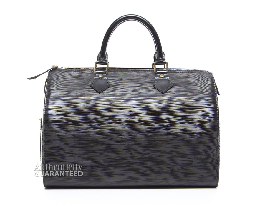 Louis Vuitton Black Epi Leather Speedy 30 Bag