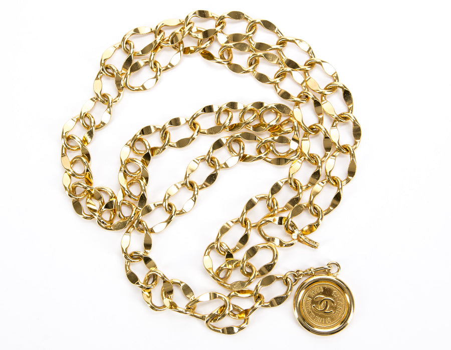 Chanel Gold Medallion Chain Belt