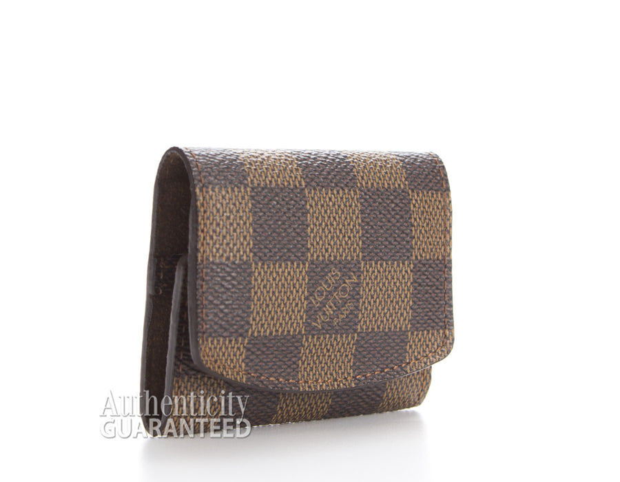 Louis Vuitton Damier Ebene Cufflink Holder Case