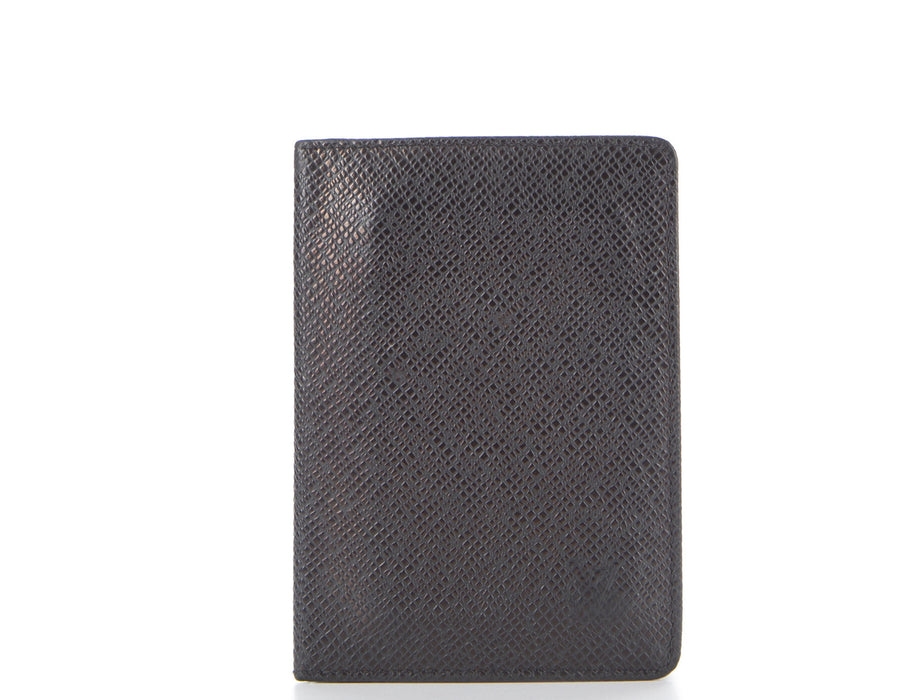 Louis Vuitton Black Taiga Leather ID Cardholder