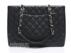 Chanel Black Caviar Grand Shopping Tote GST Bag SHW