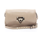 Valentino Beige Leather Rockstud Crossbody Bag