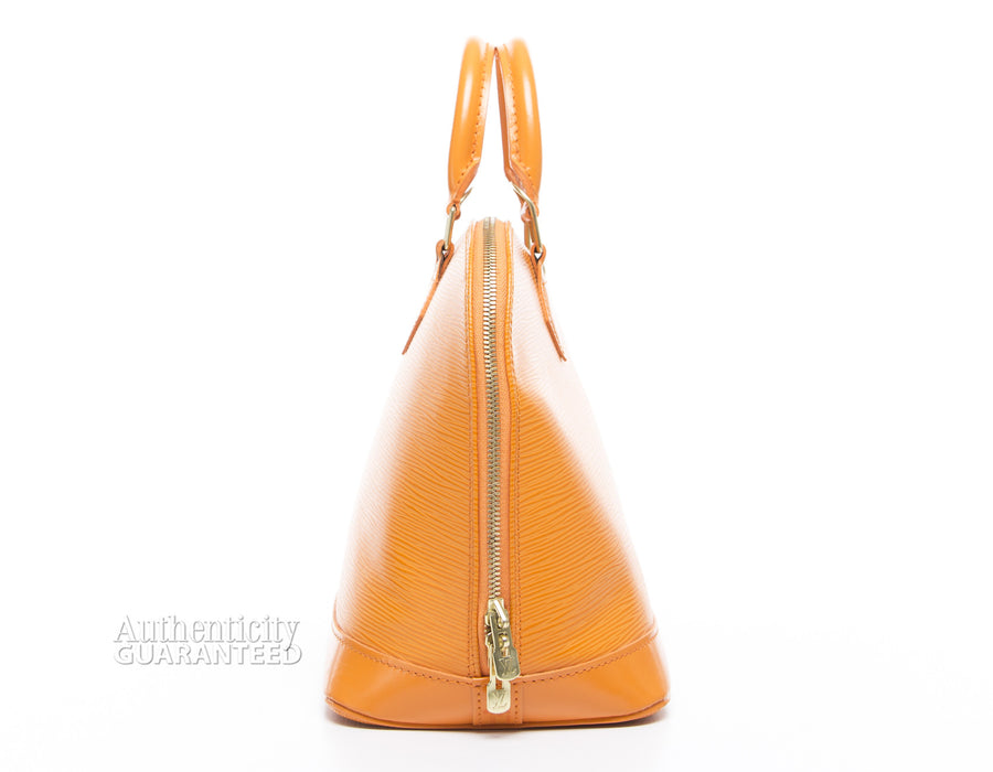 Louis Vuitton Mandarin Epi Leather Alma PM Bag