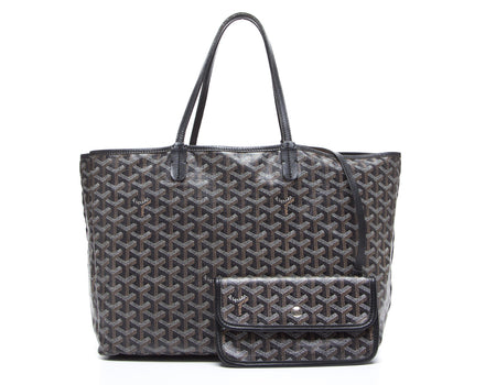 Goyard Black Monogram Coated Linen Saint Louis PM Bag