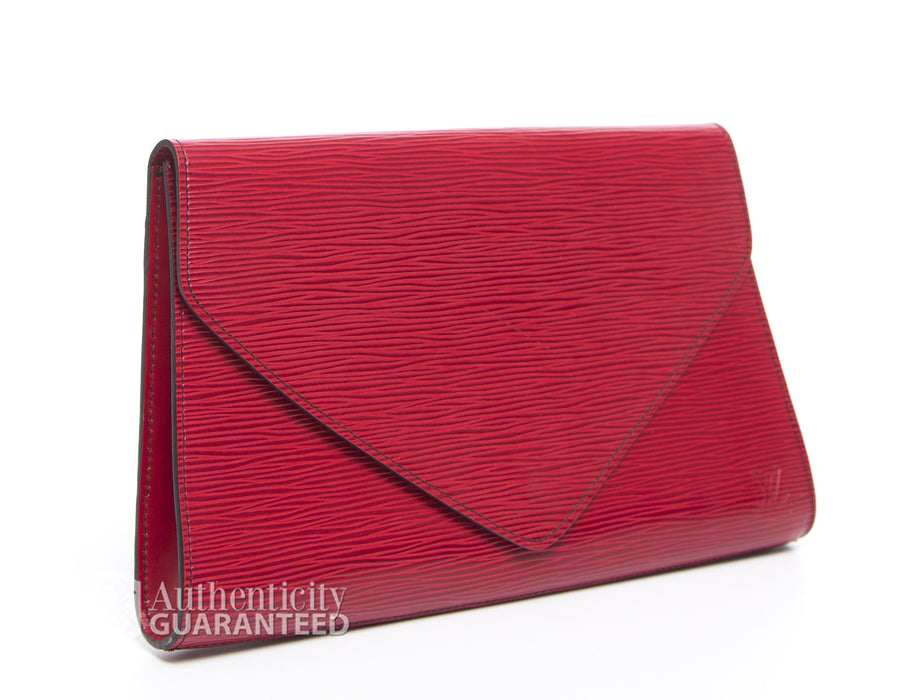 Louis Vuitton Carmine Red Epi Art Deco Clutch