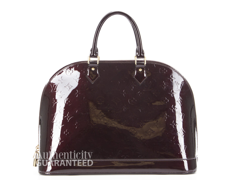 Louis Vuitton Vernis Amarante Alma GM Bag