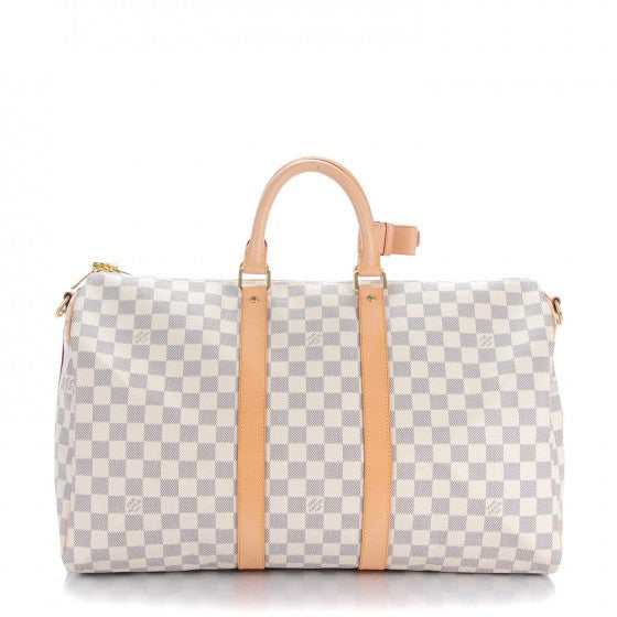 Louis Vuitton Damier Azur Keepall 45 Bandouliere Bag