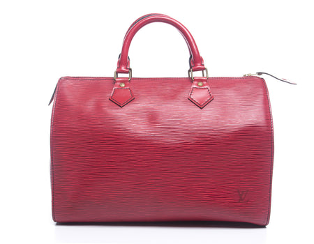 Louis Vuitton Castilian Red Epi Leather Speedy 30 Bag