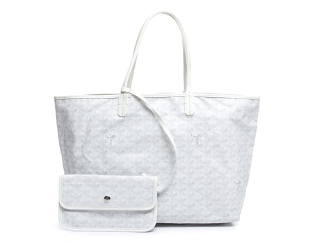 Goyard White Monogram Coated Linen Saint Louis PM Bag