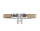 Hermes Beige Leather Kelly Cadena 65 Bracelet