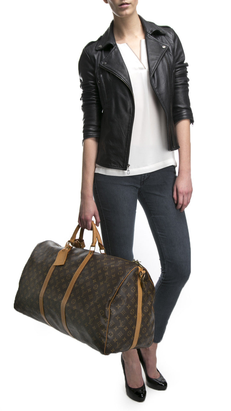 Louis Vuitton Monogram Canvas Keepall 60 Bandouliere Bag