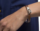 Hermes Brown Leather Kelly Cadena 65 Bracelet