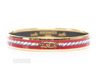 Hermes Gold Rope Red Enamel 65 Bangle Bracelet