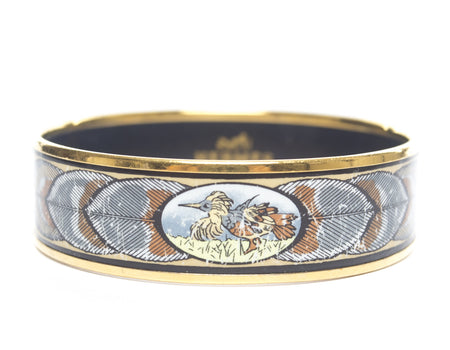 Hermes Bird and Feathers Wide PM Bracelet