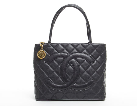 Chanel Black Caviar Medallion Bag