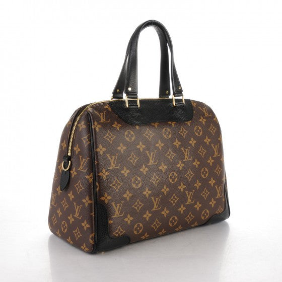 Louis Vuitton Monogram Noir Retiro NM Top Handle Bag