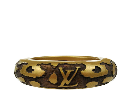 Louis Vuitton Gold Leo Wood Bangle