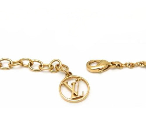Louis Vuitton Gold Essential V Strass Rhinestone Bracelet