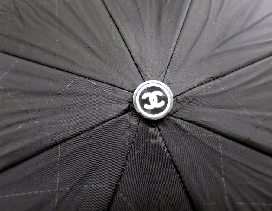 Chanel Black Nylon Compact Umbrella