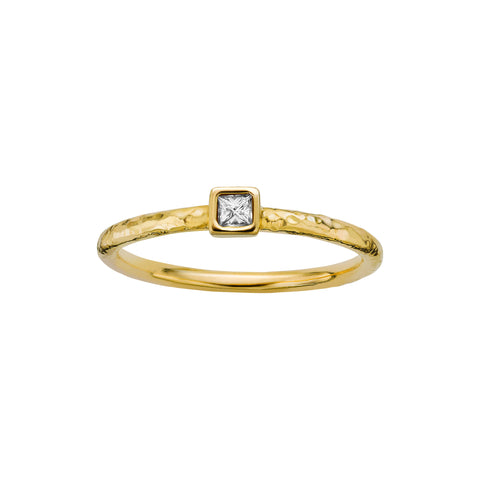 FB Jewels 14K Yellow Gold Stackable Ring Size 7