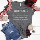 Christmas Funny Definition Shirt (Grey)