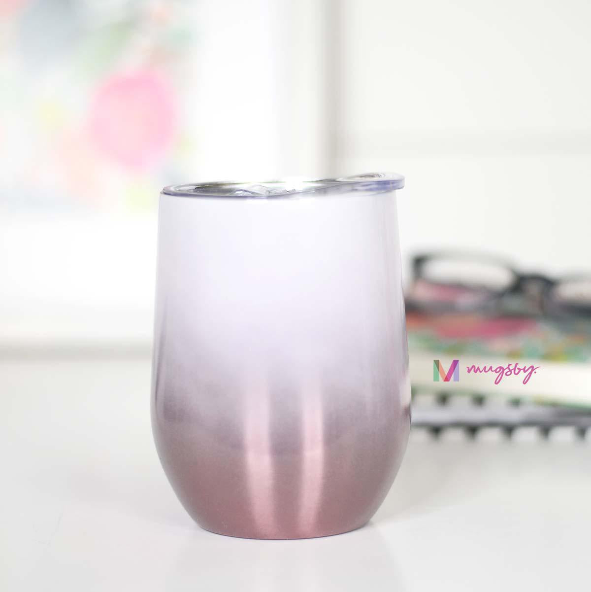 Rose Gold Ombre Wine Cup