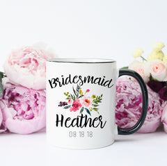 Custom Bridal Party Mugs