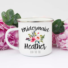 Personalized Bridesmaid Mugs