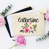 Bridesmaid Makeup Bag, Makeup Bag, Personalized Makeup Bag, Bridal Party Makeup Bags