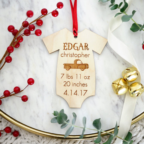 Baby's First Christmas Ornament, Ornament for Baby's First Christmas, First Christmas Gift for Mom and Dad
