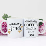 50th Anniversary Gift Ideas, Personalized Anniversary Gifts, Mugs for 50th Anniversary