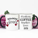 40th Anniversary Gift Ideas, Personalized Anniversary Gifts, Mugs for 40th Anniversary