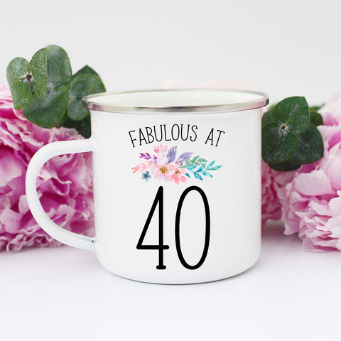 Fabulous at Forty Birthday Mug