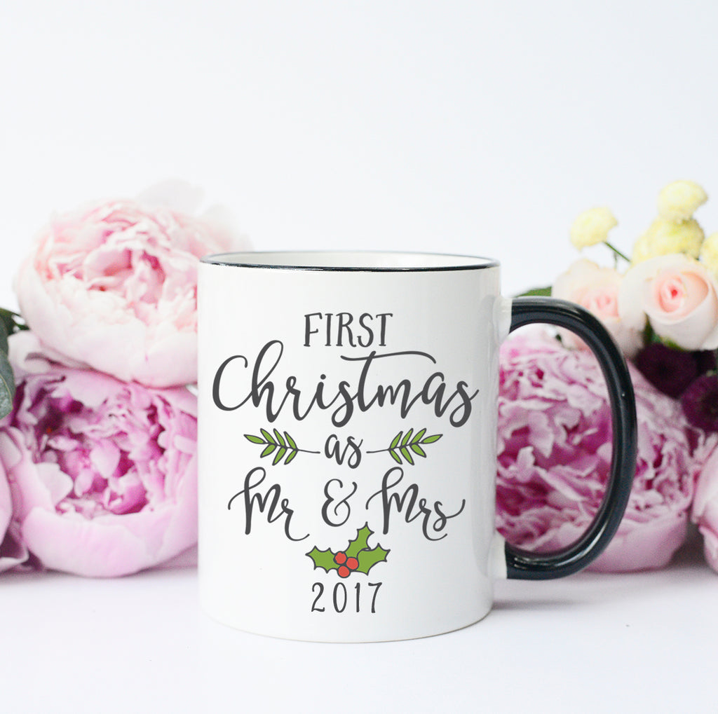Our First Christmas As Mr and Mrs Mug