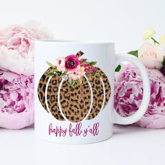 Happy Fall Y'all Mug, Fall Mug, Happy Fall