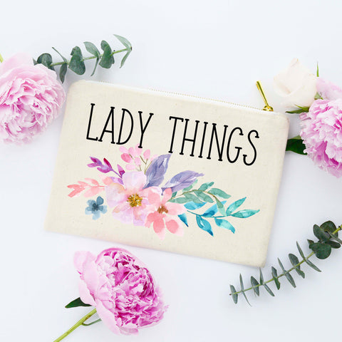 Lady Things Makeup Bag, Cute bag for Purse, Organizational Bag for Purse, Tampon Bag, Bag for Tampons, Tampon Holder