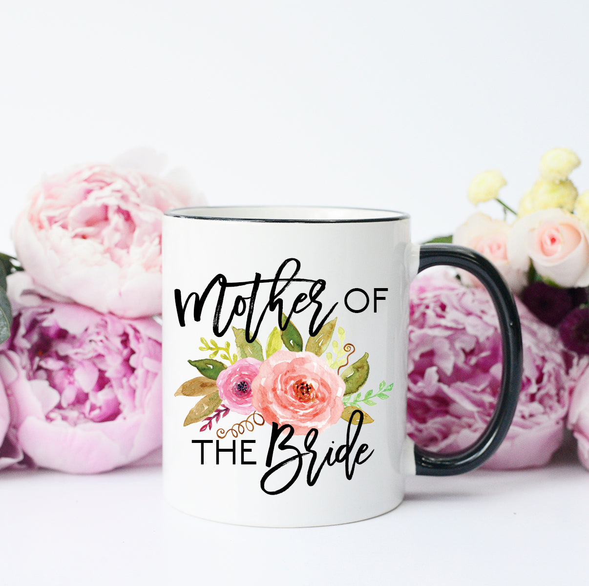 mother of the bride girly mug