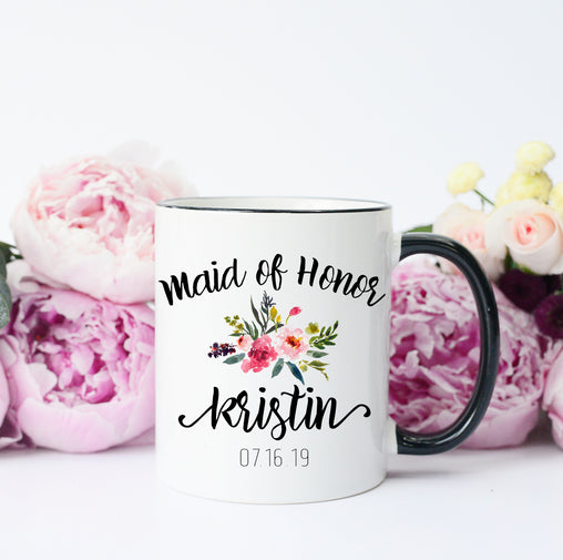 maid of honor mug