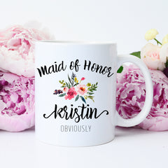 funny maid of honor cup
