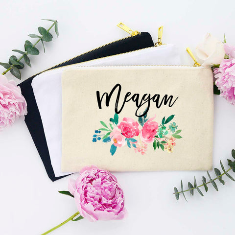 Custom Name Makeup Bag, Personalized Makeup Bag