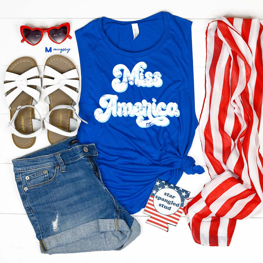 Miss America BLUE Tank, 4th of July tank
