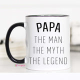 Papa The Math The Myth The Legend, Gifts for Papa, CM