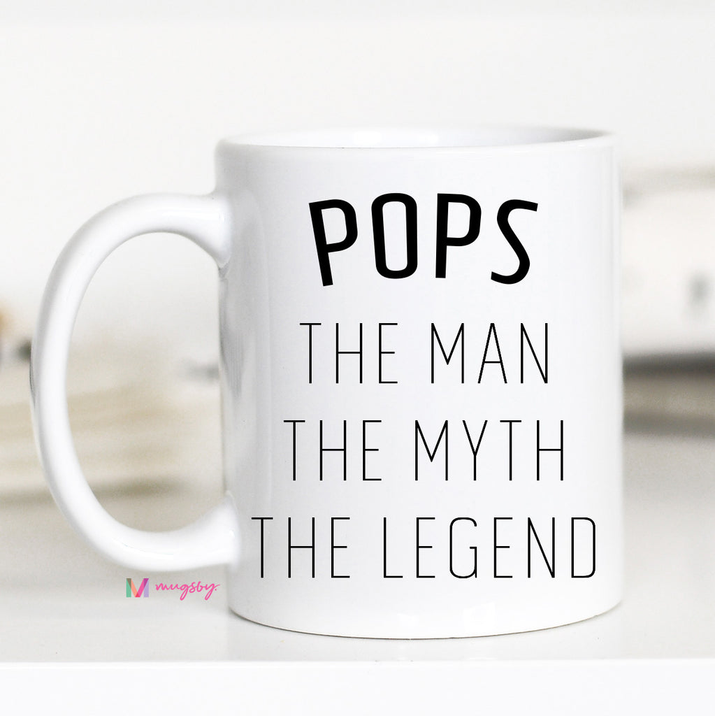Pops The Math The Myth The Legend, Gifts for Pops, CM