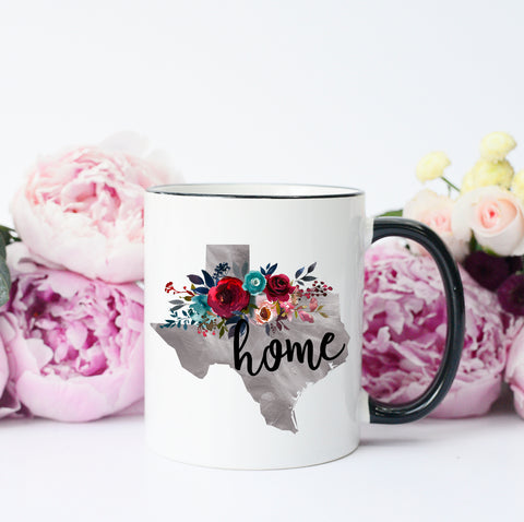 Texas Home Grey Mug
