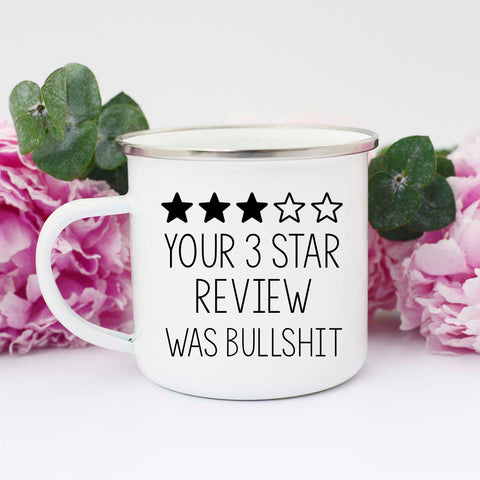 Three Star Review Mug