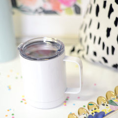 Calm Your Tits Travel Mug with Handle