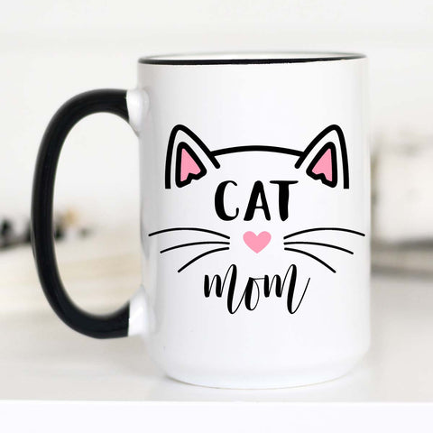 Cat Mom Mug, Gifts for Cat Lovers, Cat Mom Gifts, CM